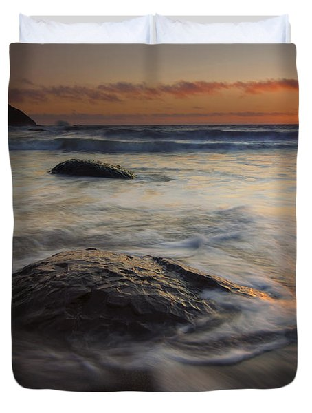 Stepping Stones Duvet Cover by Mike  Dawson