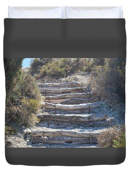 Steps In The Woods Duvet Cover