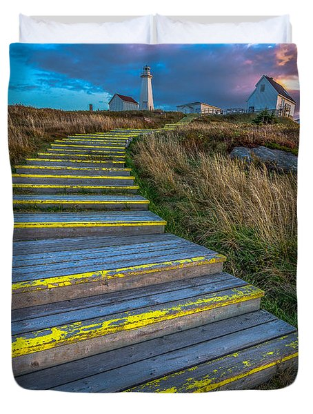 Steps To Cape Spear Duvet Cover