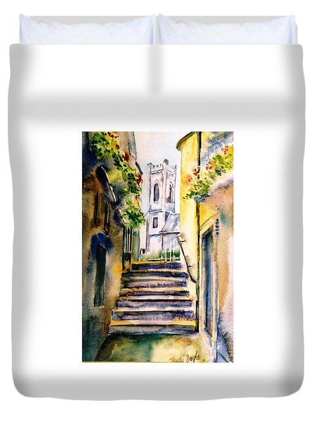 Steps To Saint Marys Church Kilkenny Duvet Cover by Trudi Doyle