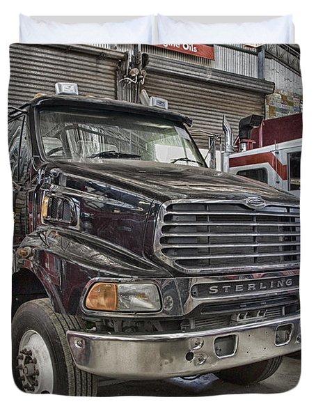 Sterling Truck Duvet Cover by Douglas Barnard