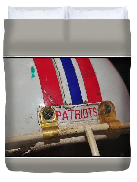 Steve Nelson's Game Worn Helmet Duvet Cover by Mike Martin