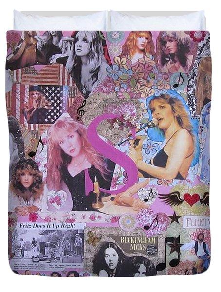 Stevie Nicks Art Collage Duvet Cover
