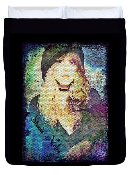 Stevie Nicks - Beret Duvet Cover