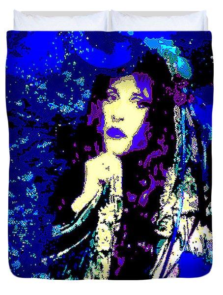 Stevie Nicks In Blue Duvet Cover by Alys Caviness-Gober