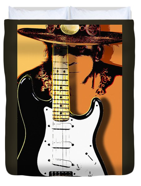 Stevie Ray Vaughan Duvet Cover by Larry Butterworth