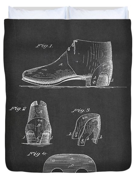 Stiffner For Boots And Shoes Patent Drawing From 1880 Duvet Cover by Aged Pixel