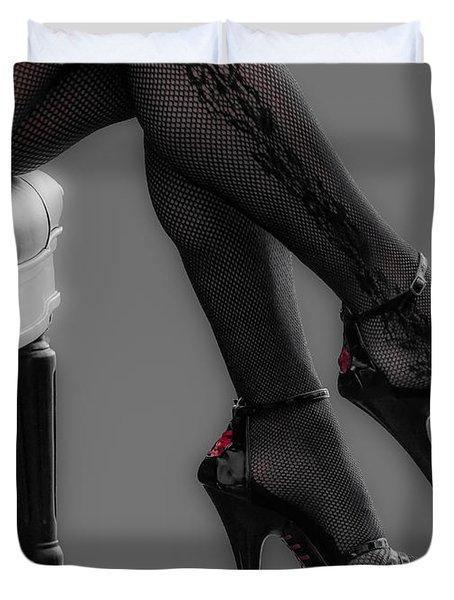Stilettos Duvet Cover by Bianca Nadeau
