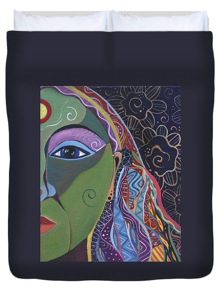 Still A Mystery 5 Duvet Cover by Helena Tiainen