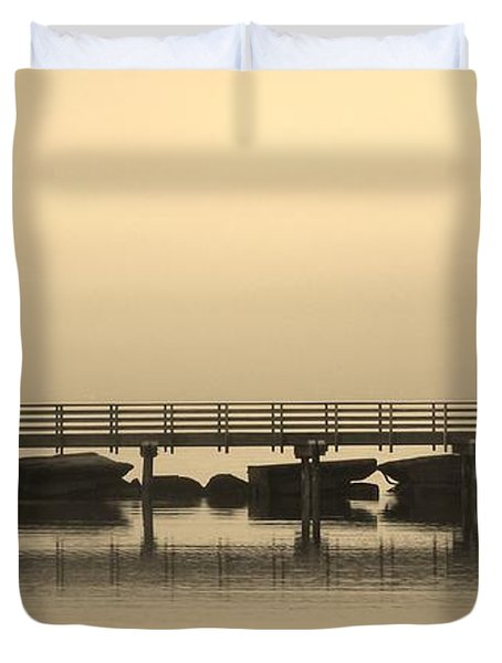 Still Lake Duvet Cover by Clare Bevan