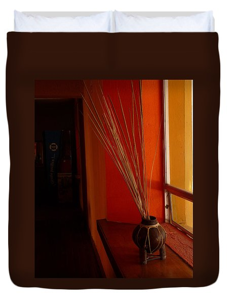 Duvet Cover featuring the photograph Still Life In Baja by Alan Socolik