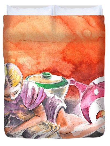 Still Life In Loket  Duvet Cover by Miki De Goodaboom