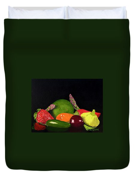 Still Life No. 3 Duvet Cover by Mike Robles