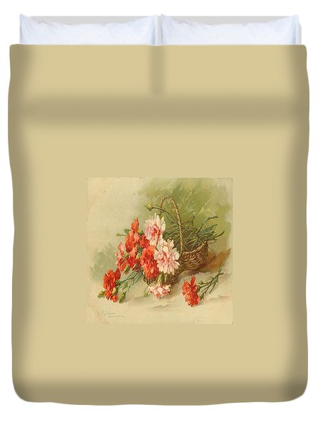 Still Life Of Flowers Duvet Cover