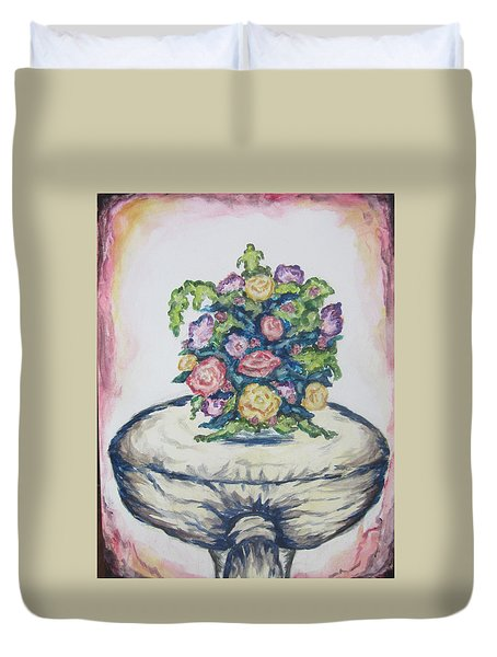 Still Life Of Flowers - Wcs Duvet Cover