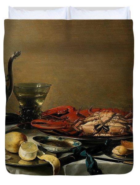 Still Life Duvet Cover by Pieter Claesz