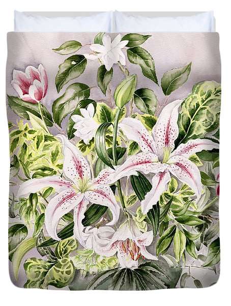Still Life With Lilies Duvet Cover