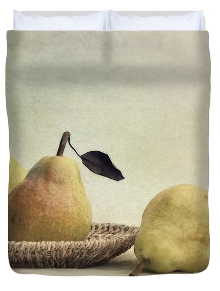 Still Life With Pears Duvet Cover by Priska Wettstein