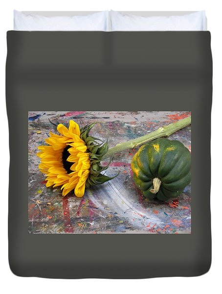 Still Life With Sunflower Duvet Cover