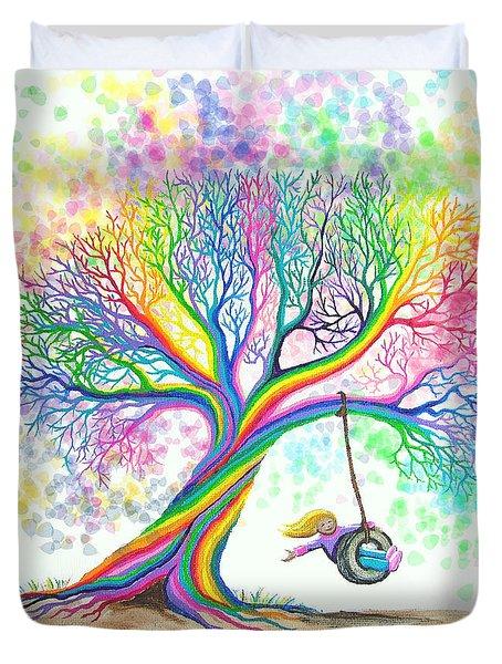 Still More Rainbow Tree Dreams Duvet Cover