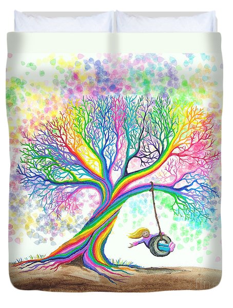 Still More Rainbow Tree Dreams Duvet Cover