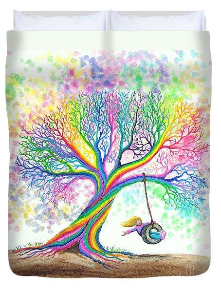 Still More Rainbow Tree Dreams Duvet Cover by Nick Gustafson
