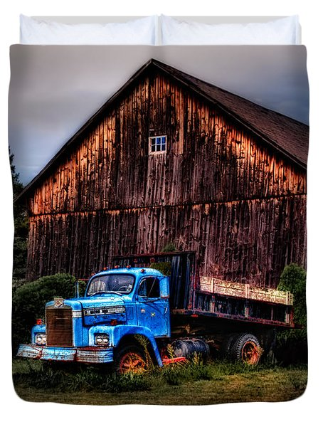 Still Truckin Duvet Cover by Susan Candelario
