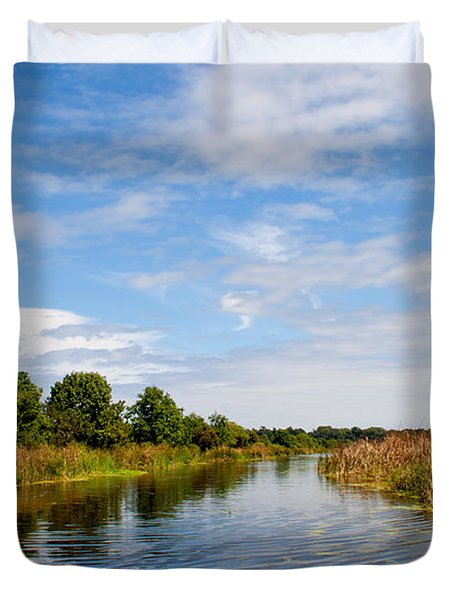 Duvet Cover featuring the photograph Still Water by Jean Haynes