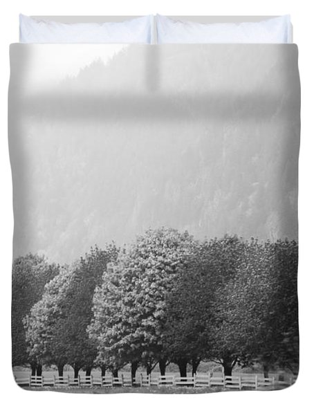 Duvet Cover featuring the photograph Stillness And Motion by Sandi Mikuse