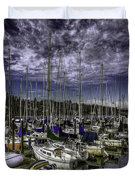 Duvet Cover featuring the photograph Stirring The Sky by Jean OKeeffe Macro Abundance Art
