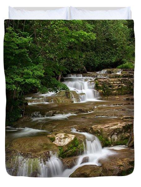 Stockbridge Falls Duvet Cover by Dave Files