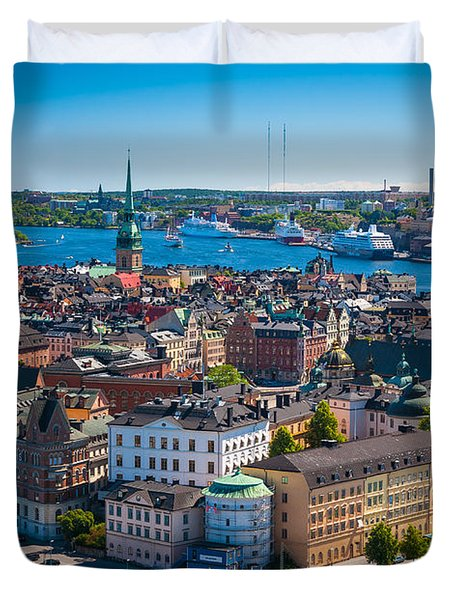 Stockholm From Above Duvet Cover