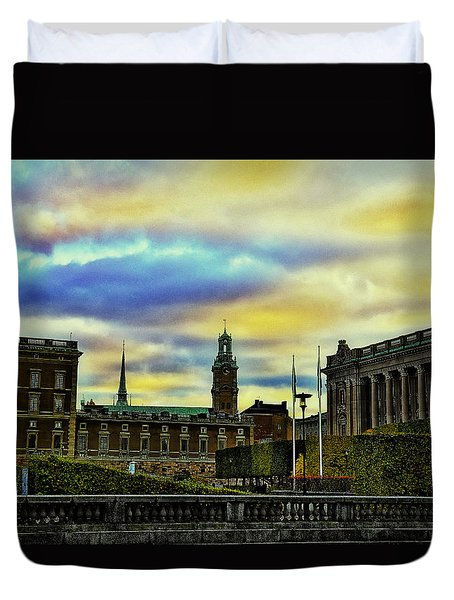 Stockholm II Duvet Cover by Ramon Martinez