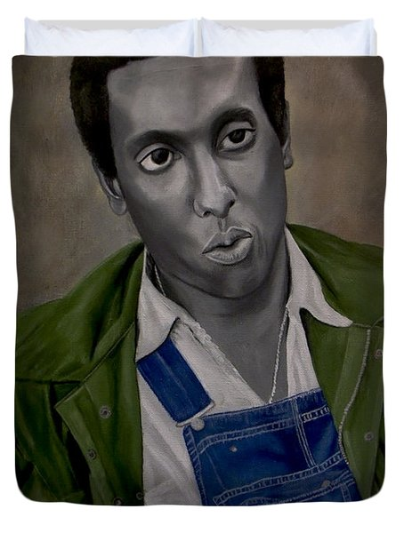 Stokely Carmichael Aka Kwame Toure Duvet Cover by Chelle Brantley