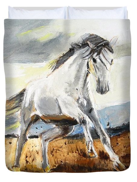 Stomping Ground Duvet Cover by Judy Kay