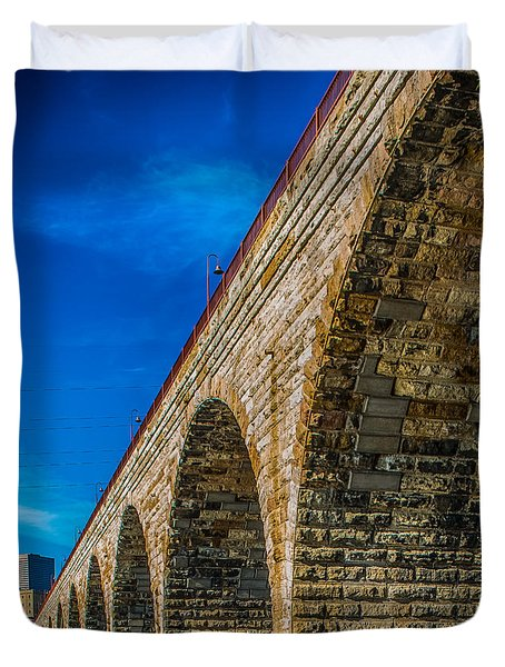 Stone Arch Bridge By Paul Freidlund Duvet Cover