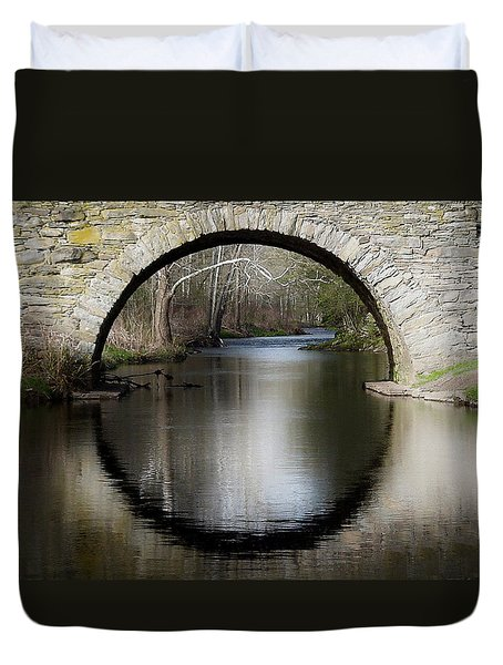 Stone Arch Bridge Duvet Cover