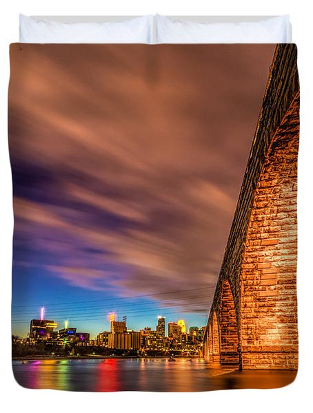 Stone Arch Minneapolis Duvet Cover by Mark Goodman