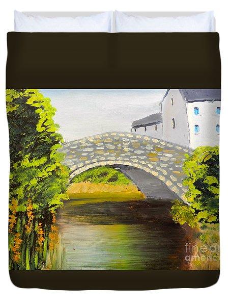 Stone Bridge At Burrowford Uk Duvet Cover