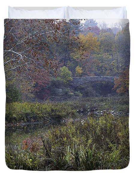 Stone Bridge In Autumn I Duvet Cover