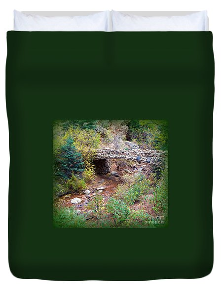 Stone Bridge Duvet Cover by Michelle Frizzell-Thompson