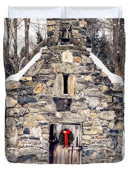 Stone Chapel In The Woods Trapp Family Lodge Stowe Vermont Duvet Cover