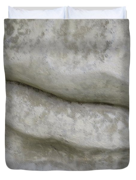 Duvet Cover featuring the photograph Stone Cold Lips by Ella Kaye Dickey