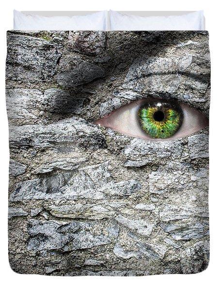 Stone Face Duvet Cover