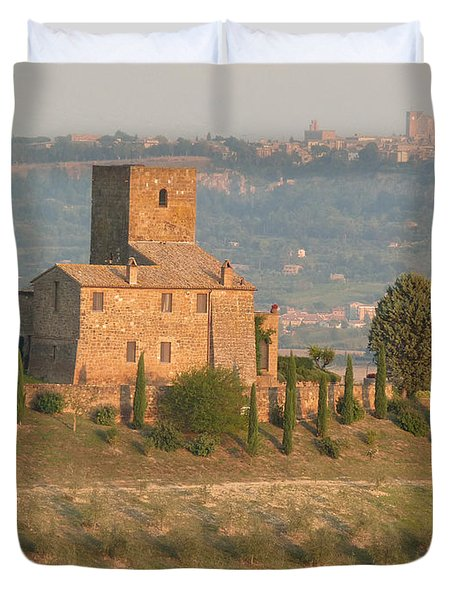 Duvet Cover featuring the photograph Stone Farmhouse by Marcia Socolik