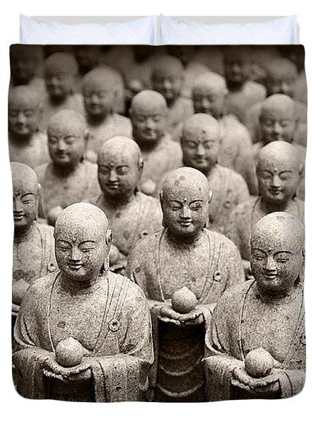 Stone Figures Of Jizo Duvet Cover