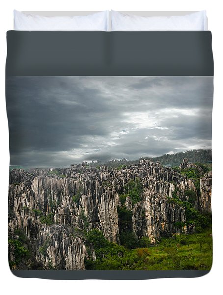 Stone Forest Duvet Cover