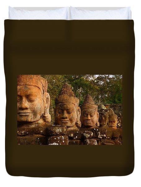 Stone Heads Duvet Cover