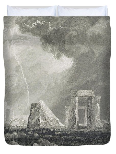 Stone Henge Duvet Cover by Joseph Mallord William Turner