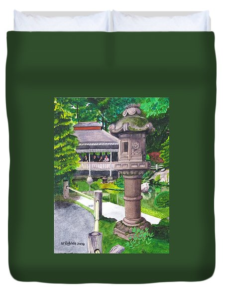 Stone Lantern Duvet Cover by Mike Robles